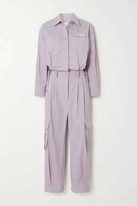 pushBUTTON Cotton Jumpsuit - Lilac