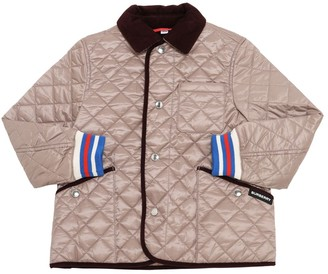Burberry Quilted Nylon Jacket W/ Velvet Collar