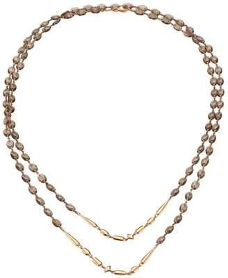Etho Maria 18K Rose Gold & Smokey Quartz Beaded Double-Strand Long Necklace