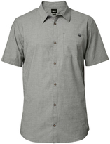 Fox Military Gray Drips Short-Sleeve Button-Up