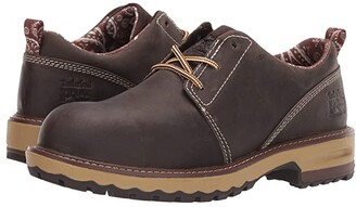 Timberland Hightower Oxford Composite Safety Toe (Turkish Coffee Full Grain Leather) Women's Work Boots