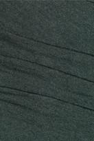 Helmut Lang Ruched jersey dress
