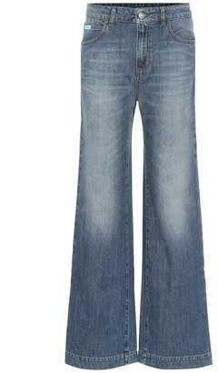 ALEXACHUNG High-waisted flared jeans