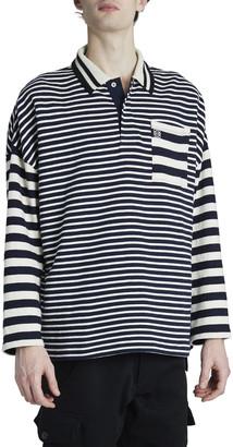 Loewe Men's Striped Long-Sleeve Polo Shirt