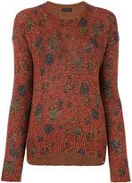 Etro - patterned crew neck sweater