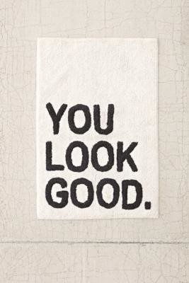 Urban Outfitters You Look Good Bath Mat - Black 2 x 4 at