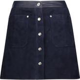 Rag & Bone Siggy leather-trimmed suede mini skirt