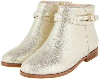 Monsoon Girls Nadia Strap Boot - Gold