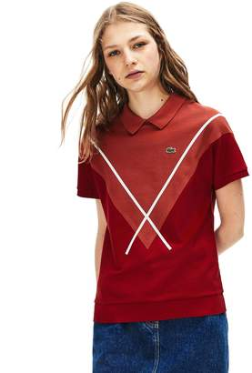 Lacoste Women's Made In France Jacquard Pique Polo Shirt