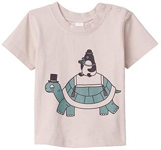 HUXBABY Turtle Penguin T-Shirt (Infant/Toddler) (Almond) Kid's Clothing