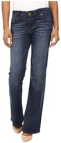 KUT from the Kloth Petite Natalie High-Rise Bootcut Jeans in Adaptive