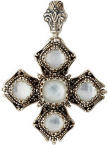 Konstantino Aura Crystal Doublet Cross Pendant Enhancer