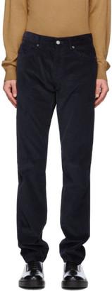 Ermenegildo Zegna Navy Micro Corduroy Trousers