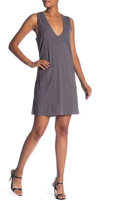 Dual Nature Ribbed Knit V-Neck Dress