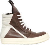 Rick Owens 20mm Leather High Top Sneakers