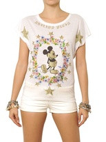 Philipp Plein Crystals Printed Cotton Jersey T-Shirt