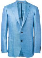 Canali patch pockets blazer - men - Silk/Linen/Flax/Cupro/Wool - 50