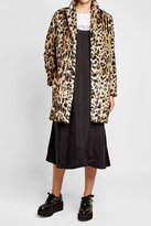 The Kooples Printed Faux Fur Coat