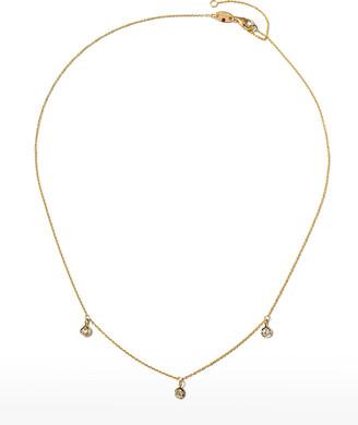 Roberto Coin 18k 3-Diamond Dangle Necklace
