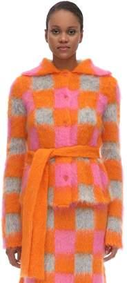 Kenzo Check Mohair Blend Intarsia Jacket