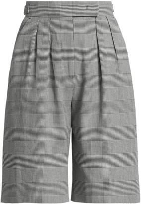 Max Mara Limone Plaid Dress Shorts