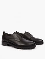 Lanvin Black Leather Slip-On Shoes