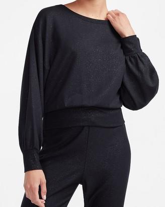 Express Cozy Balloon Sleeve Sweatshirt