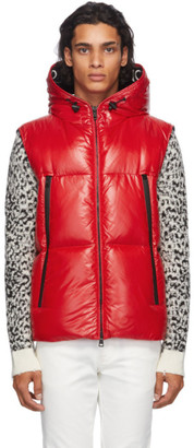 Moncler Red Down Quilted Vest