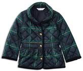 Ralph Lauren Infant Girls' Diamond Quilted Plaid Barn Jacket - Sizes 6-24 Months
