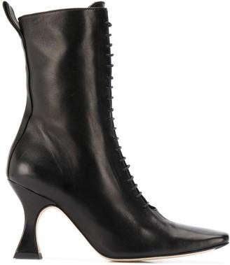 Miista Yana 85mm lace-up boots
