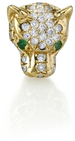 Sydney Evan Emerald and Diamond Panther Stud Earring