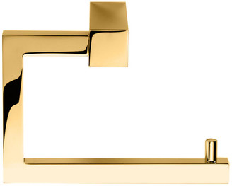 Dwba Bath Collection Wall Toilet Paper Holder Without Lid, Polished Gold