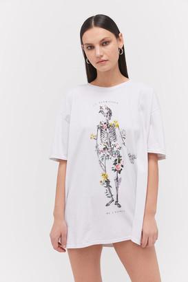 Project Social T Floral Skeleton T-Shirt Dress