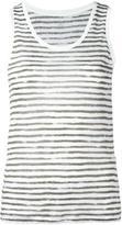 Majestic Filatures striped tank - women - Linen/Flax - III