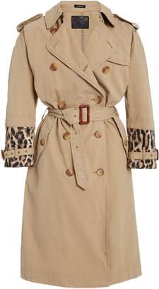 R 13 Foldover Cuff Trench Coat