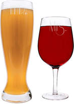 Cathy's Concepts CATHYS CONCEPTS Mr. & Mrs. Gatsby XL Beer and Wine Glass Set