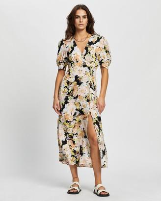 Topshop 70s Floral Print Midi Dress