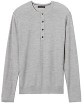 Banana Republic Merino Wool Silk Blend Henley