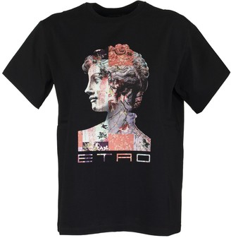Etro Collage Print T-shirt Over Black