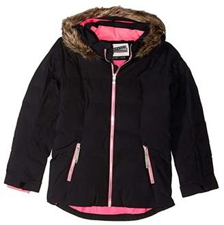 Spyder Atlas Synthetic Down Jacket (Big Kids) (Black) Girl's Clothing