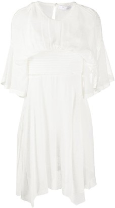 IRO Pleated Semi-Sheer Dress