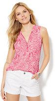 New York & Co. Soho Soft Shirt - Sleeveless - Floral