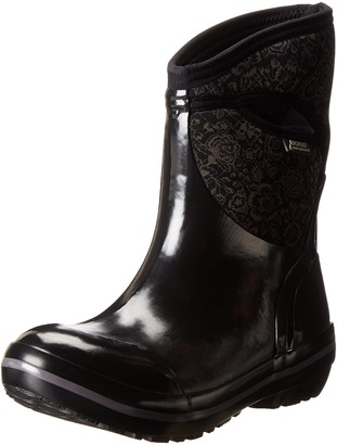 Bogs Women's Plimsoll Quilted Floral Mid Waterproof Winter & Rain Boot