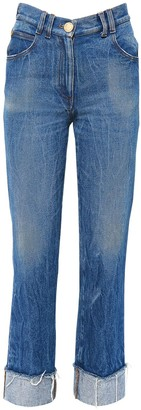 Balmain Straight Leg Cotton Denim Jeans