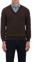 Barneys New York Men's Cashmere V-Neck Sweater-BROWN