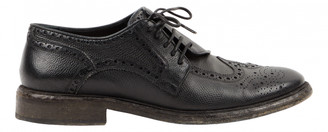 Burberry Black Leather Lace ups