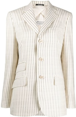 Maison Margiela Logo-Stripe Single-Breasted Blazer