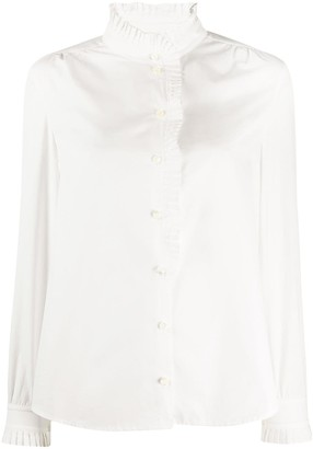 Frame Pleated Placket Shirt