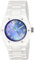 Swiss Legend Women's 10054-WBLSA Throttle Analog Display Swiss Quartz White Watch