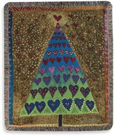 Bed Bath & Beyond Holiday Tree of Hearts Throw Blanket
